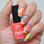 Unexpected Stamping on a Neon Watermarble!